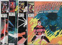 Daredevil #254, #255, #256 & #257   Lot of 4 (1988, Marvel Comics)