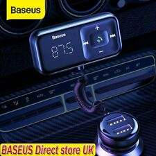 More details for baseus bluetooth 5.0 fm transmitter handsfree usb charger car kit radio adapter