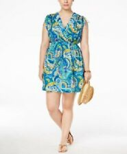 NWT Ralph Lauren Cover up Dress Plus Size 1X Carnivale Paisley Farrah Blue