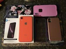 Apple iPhone XR Coral Verizon 64GB Factory Unlocked Smartphone 4G LTE iOS W/case