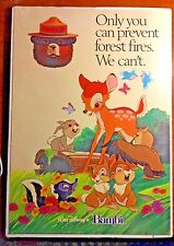 "USDA WALT DISNEY'S BAMBI ""ONLY YOU CAN PREVENT FOREST FIRE..."" Smokey the Bear"