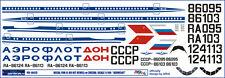 1/144 PAS-DECALS.laser decal IL-86 ZVEZDA AEROFLOT SSSR