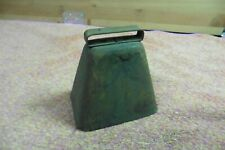 Vtg Metal cow bell very loud iron clang noise slightly rusted