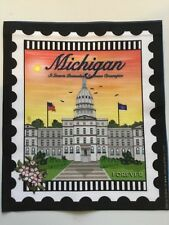 State Stamp fabric panel - Michigan-Forever Stamp