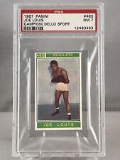 1967 Panini Campioni Dello Sport Joe Louis PSA NM-7 World Heavyweight Champion