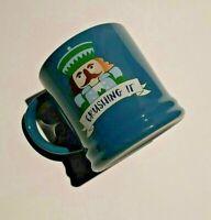 Holiday Christmas Nutcracker Mug 16 oz Porcelain Crushing it Blue Threshold New