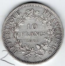More details for france 1967 10 francs hercules group .900 silver  uk seller free postage crown