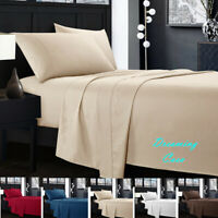 Egyptian Comfort 1800 Count 4 Piece Deep Pocket Bed Sheet Set King Queen Size J7