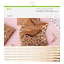 New Arrival Cricut Foil Embossed Paper Gold / White