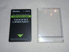 RHODES ROLAND CARD SOUND LIBRARY SN-U01-01R PIPE ORGAN & HARPSICHORD U20,D70...