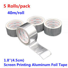 "5 Roll 1.8""(4.5cm) Screen Printing Aluminum Foil Tape Screen Plate Block Out Tap"