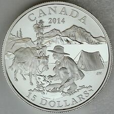 2014 The Gold Rush – Exploring Canada #2, Pure Silver $15 Matte Proof Coin