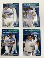 Lot of 4 different 2007 Seattle Mariners MLB Baseball Pocket Schedules