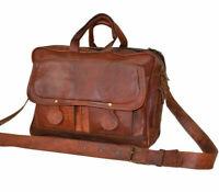 Men's Genuine Leather Messenger Satchel Shoulder Laptop Briefcase Office Bag