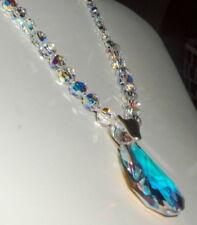 Dazzling Crystal Drop Pendant and Crystal Necklace