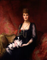 Queen Alexandra Portrait oil painting Giclee Art Printed on canvas L2638