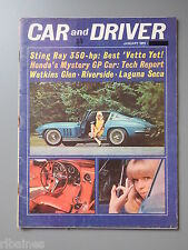 R&L Mag: Car & Driver January 1965 Hispano-Suiza/Corvette 327/Honda Formula 1...