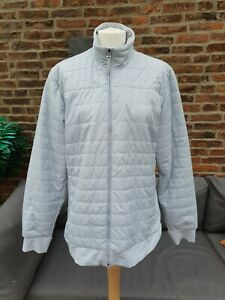 🔥🔥 LADIES DESIGNER ADIDAS CLIMAPROOF QUILTED GOLF JACKET XL RRP £114.99 Blue