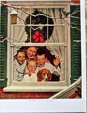Norman Rockwell Oh Boy It's a Plymouth Poster  Offset Lithograph Unsigned 14x11