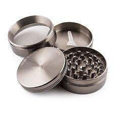GStar 2.25 Inch 4 Pieces Aluminum Tobacco Spice Herb Grinder-Gun Metal