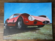 Early Work PAINT of a Car Designer 80's automobile FERRARI 250 GTO Peinture