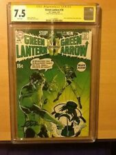 Green Lantern 76 CGC 7.5 SS signed by Neal Adams with white pages
