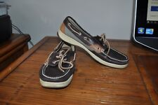 Sperry Top Sider Angelfish 2 Eye Leather Casual Boat Deck Shoes Wmns 9 M Loafers