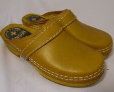 Simson Clog Mule Shoes Stapled Professional Wood Beige EU 38 Size 7.5 8