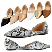 Women's Ballet Flat D'Orsay Comfort Light Pointed Toe Slip On Casual Shoes