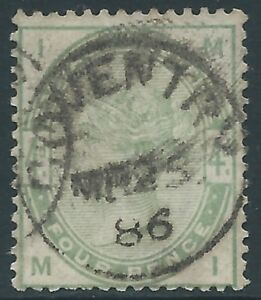 Great Britain - Victoria - SG 192 - 4d  - USED -  Circle Coventry Pmk CV, £210