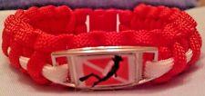 SCUBA Dive Flag with a SCUBA Diver Emblem Handmade Red & White Paracord Bracelet