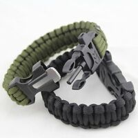 Survival Lifesaving Lock Camping Outdoor Bracelets Rope Wristbands Strap 2 color