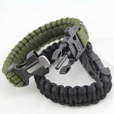 BLANST SURVIVAL BRACELET KIT Outdoor Camping Hiking Life Saving Fire Starter