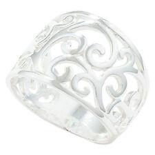 Echter Ringe im Cocktail-Stil aus Sterlingsilber