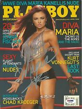 Maria Kanellis Signed April 2008 Playboy Magazine PSA/DNA COA WWE Autograph Diva