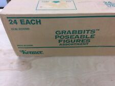 Rare 1989 Kenner The Grabbits  Factory sealed Case Of 24 Figures Collection