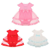 Newborn Toddler Baby Girls Kids Romper Infant Mesh Dress Clothes Outfits Dresses