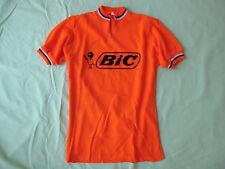 Maillot cycliste vintage BIC Orange Acrylique Tour de France shirt - M
