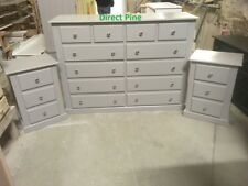 SHAFTESBURY 3 PIECE BEDROOM CHEST PACKAGE GREY WITH CHROME HANDLES