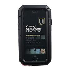 Shockproof Aluminum Gorilla Glass Metal Case Cover for iPhone 5S 6 7 8 Plus X 10