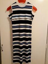 "Sweewe Paris S/M Jumper Dress Cold sh sh/sl  Navy mix stripes L37"""
