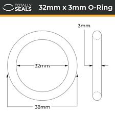 32x3 Nitril (NBR) O-Ringe - 32mm Innendurchmesser X 3mm Kreuz Bereich (38mm mm)