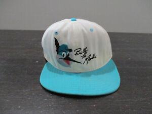 VINTAGE Florida Marlins Hat Cap Snap Back White Teal Billy The Marlin 90s *