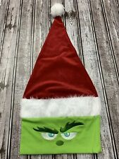 Dr Seuss The Grinch Santa Hat Faux Fur New 2019 Dandee Christmas Adult Size