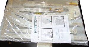 FAIRGATE 15-200 Fashion Designer's Carry All - Centimeter Pattern Making Rulers
