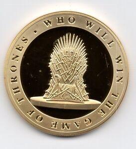 Game of Thrones Gold Coin Jon Snow Targaryen Ideal Xmas Gift Birthday Legend USA