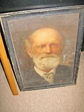 Vintage Print Original Painting? Crozer Seminary Mr. Johnson Picture Photo 1800s