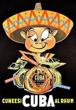 Pubblicità D'ARTE ITALIANO MARRONS Cuba RUM DRINK PUB BAR DA VIAGGIO POSTER stampati