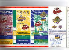 1996 Orioles PHANTOM Post Season Ticket Proof Autograph / signed Pat Gillick