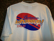 Budweiser Whassup New nos White T Shirt Size XL tee Free USA ship